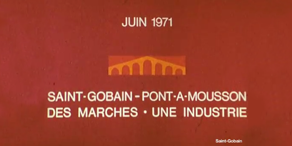 Saint-Gobain merger with Pont-à-Mousson in 1970