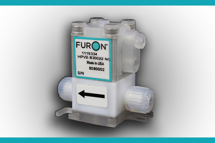 "Furon HPV Mini Valve (1/8"") mitigates contamination risks in wafer processing"