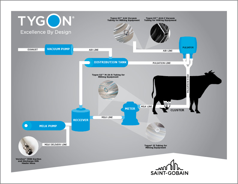 Tygon Milk Tubing in Raw Milk Collection Process | Saint-Gobain